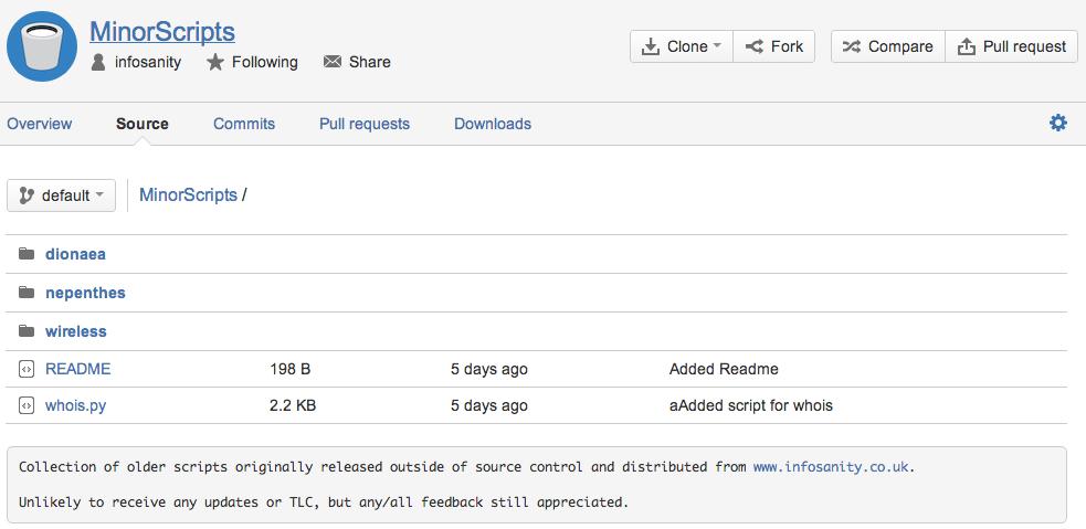 MinorScripts repository